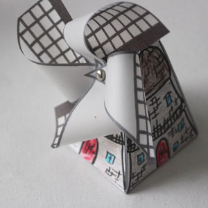 Adorable Printable Dutch Windmill