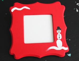 Adorable Thumbprint Snowman Frame