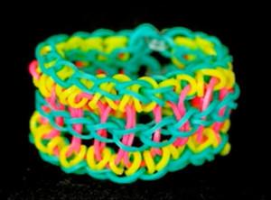 Carnival Rainbow Loom Bracelet