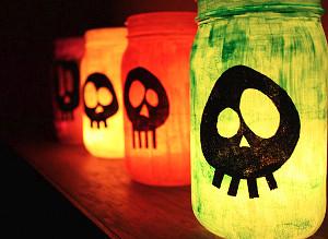 Neon Skull Luminaries