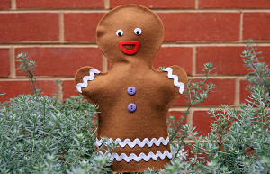 No-Sew Gingerbread Man Puppet