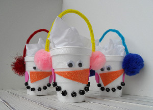 Snowman Candy Cup