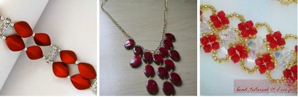 DIY Jewelry in Jewel Tones: Ruby Red
