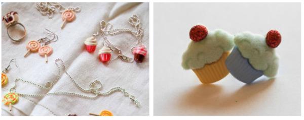 Cupcake and Candy Charm DIY Jewelry
