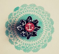 Easy Fabric Flower Brooch