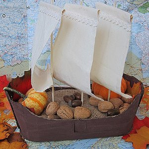 Kid Made Mayflower Basket