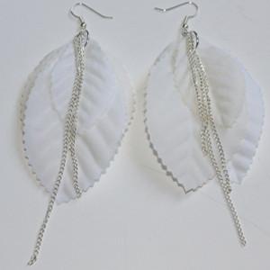 Fallen Leaf Chain Earrings