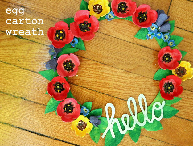 Hello Gorgeous Recycled Wreath