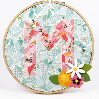 Paper Crafting on a Hoop