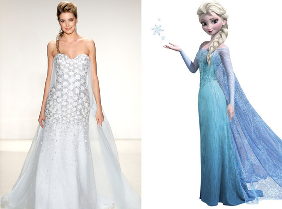 Elsa Disney Princess Wedding Dress