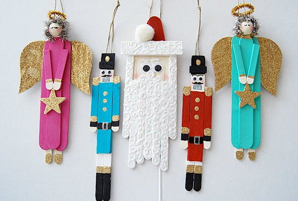 Popsicle Stick Christmas Characters