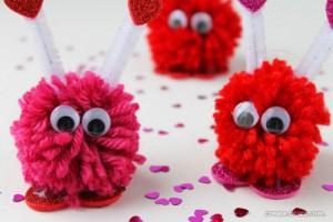 Pom Pom Valentine Monsters