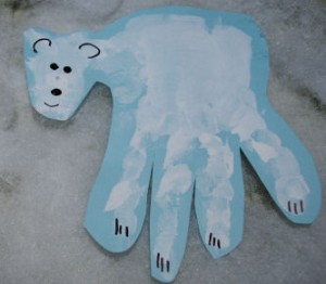 Polar Bear Handprint