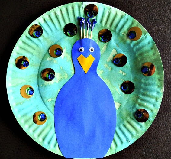 Pretty Paper Plate Peacock