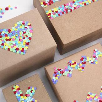 confetti gift wrap
