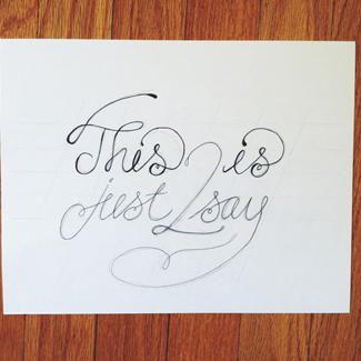 typography hand lettering