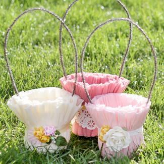 Easter Crepe Paper Basket