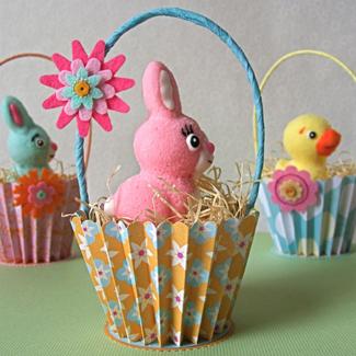 Easter Cupcake Liner Basket