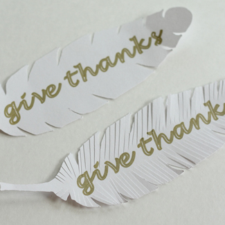 Die Cut Paper Feathers