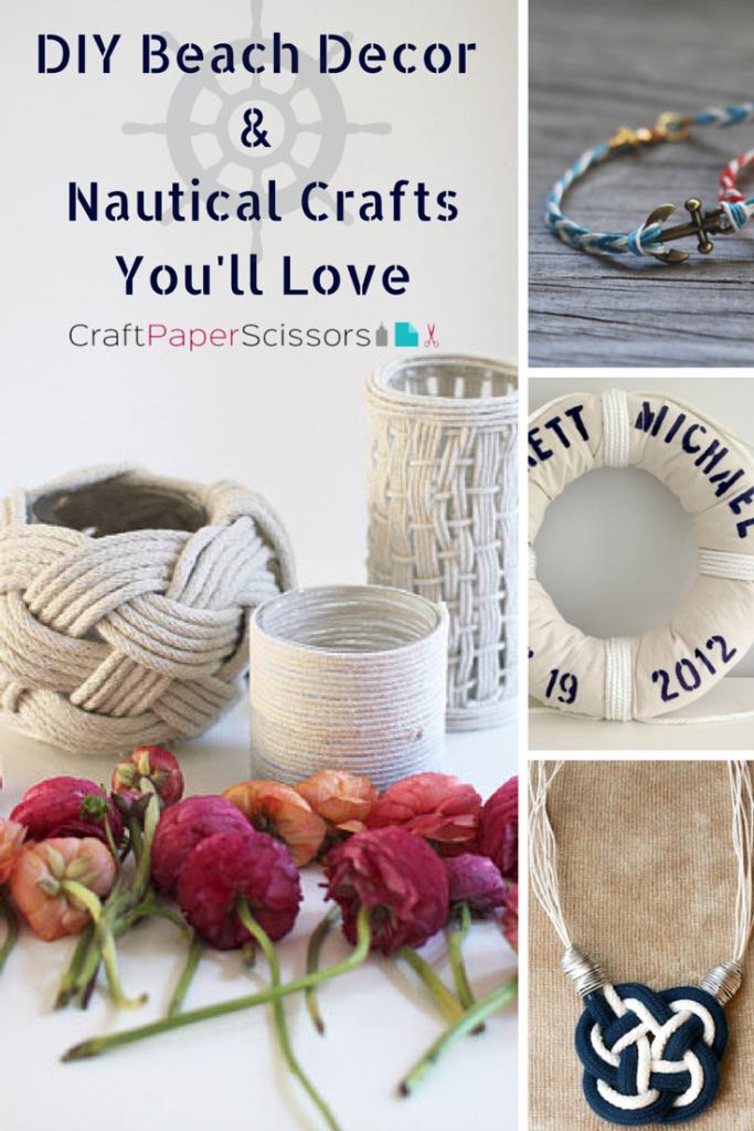 Need Vitamin Sea DIY Beach Decor Nautical Crafts You 39 Ll