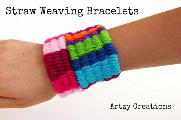 Straw Weaving Bracelets via Design Dazzle