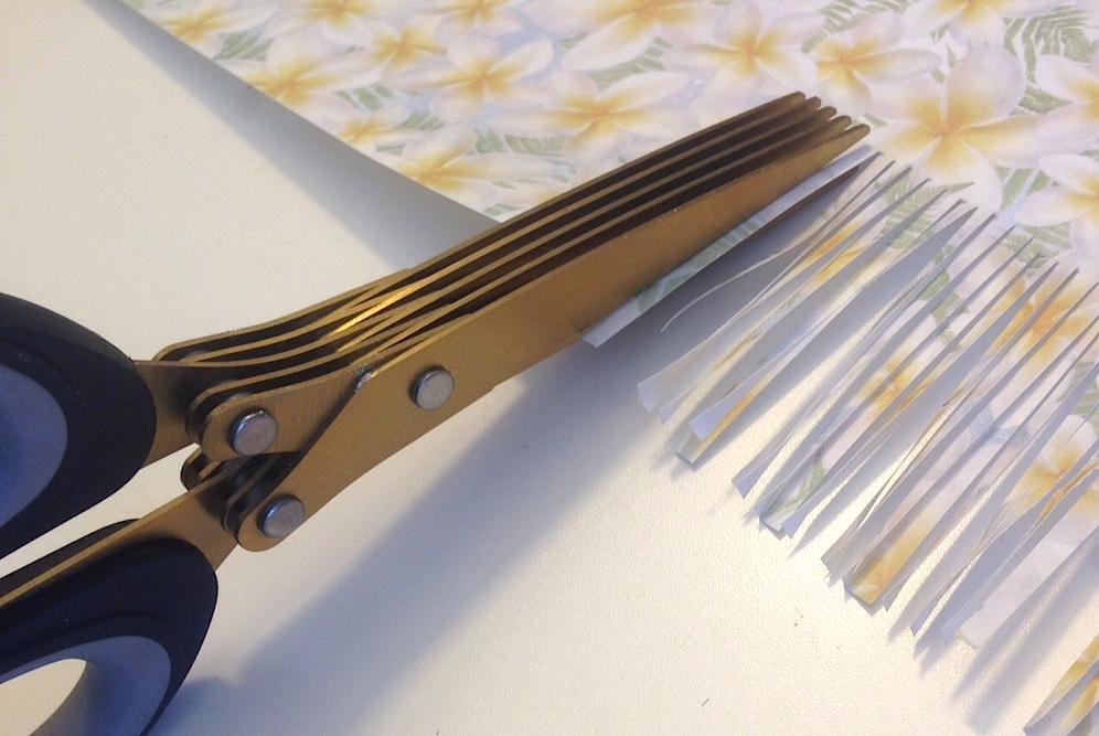 fringing scissors for paper tassels