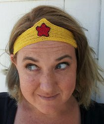 Wonder Woman Crochet Headband