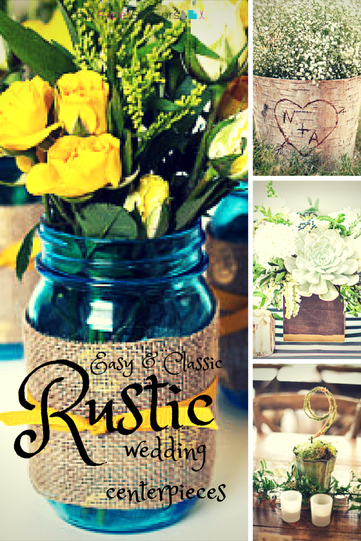 wedding trend: rustic summer wedding centerpieces - craft paper scissors