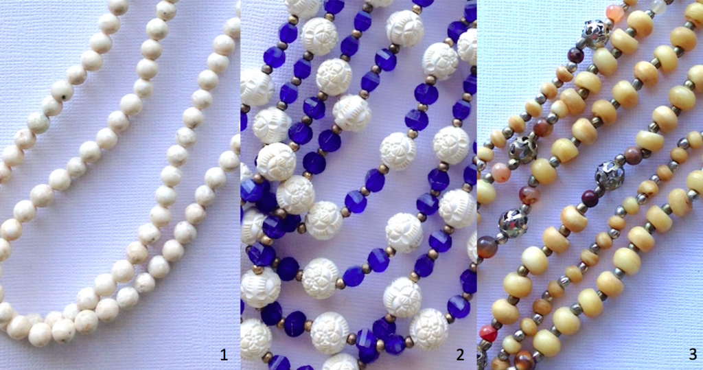 old bead necklaces