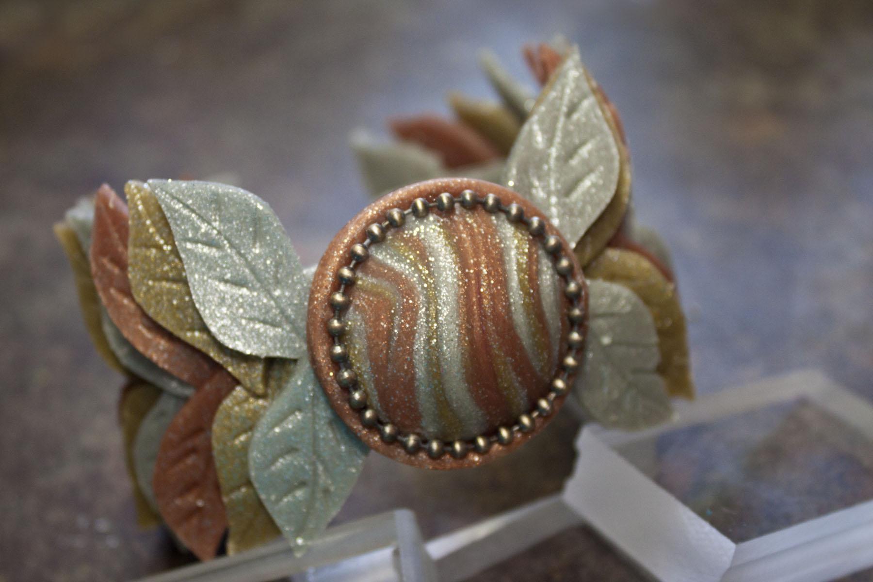 Sculpey Leaf Cuff Bracelet