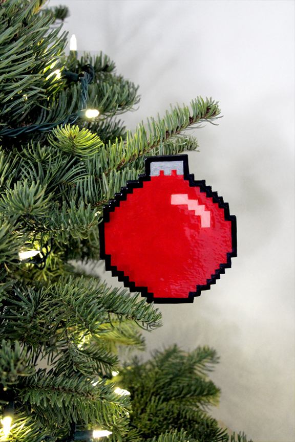 DIY 8-Bit Holiday Ornaments