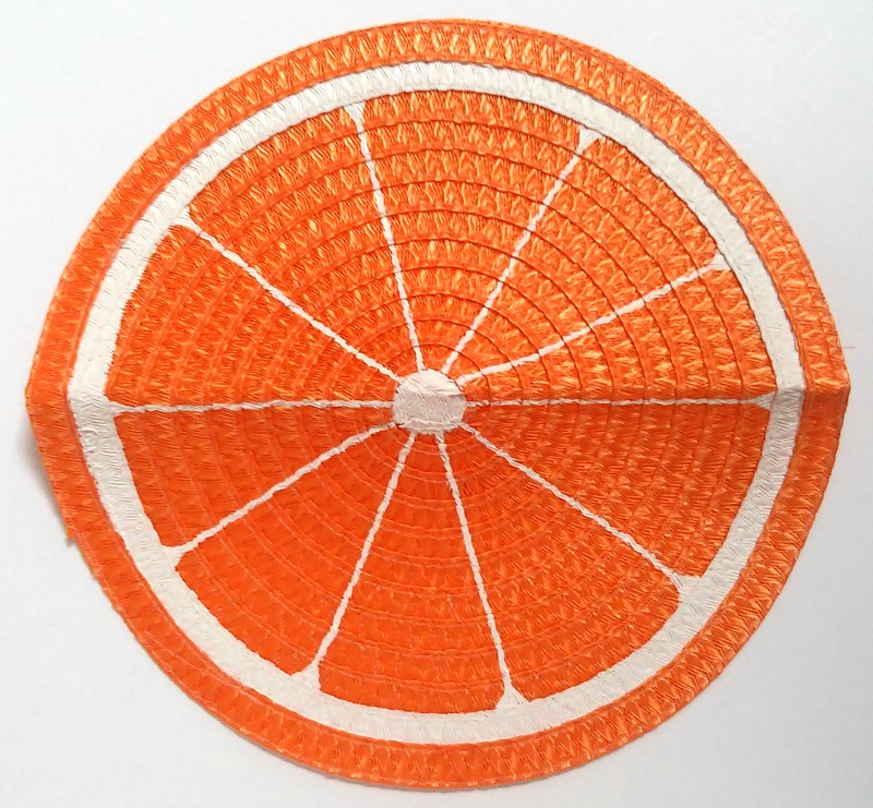 Orange Slice Straw Clutch Purse 1