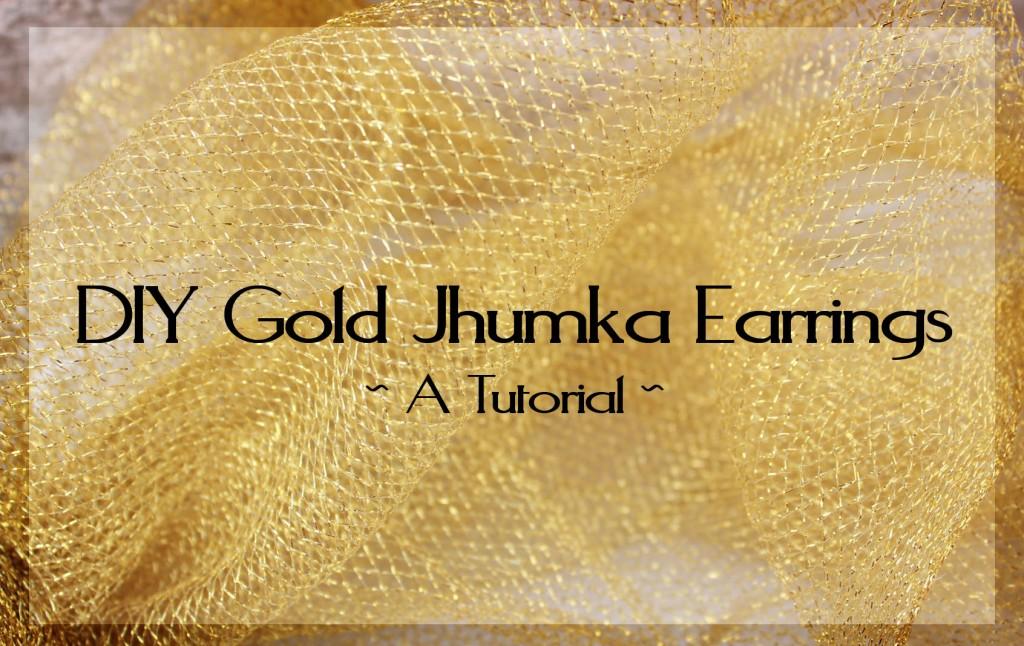 DIY Gold Jhumka Earrings 3