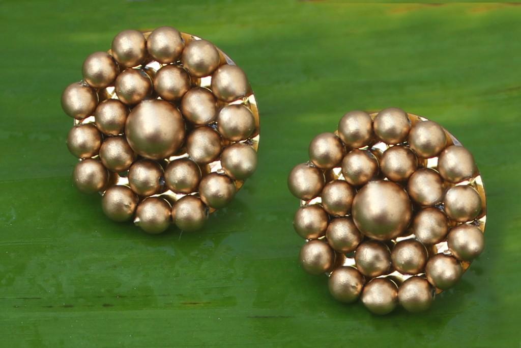 DIY Gold Jhumka Earrings 2
