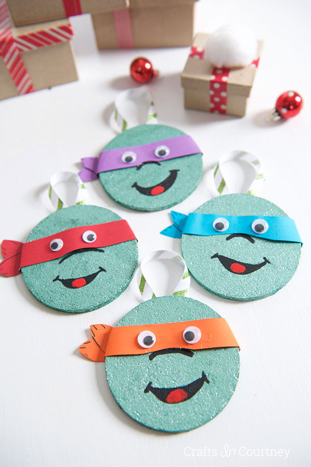 DIY Coaster TMNT Christmas Ornaments