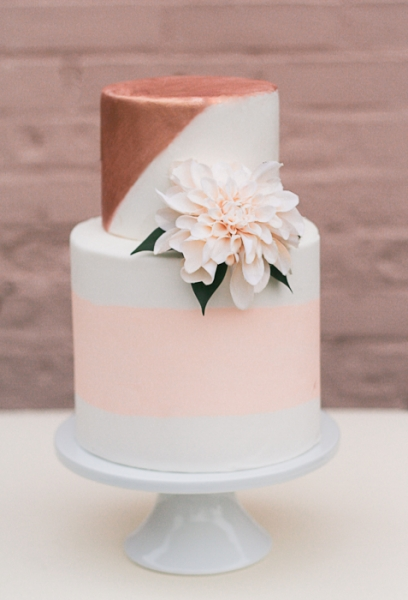Blushing Rose Gold Cake