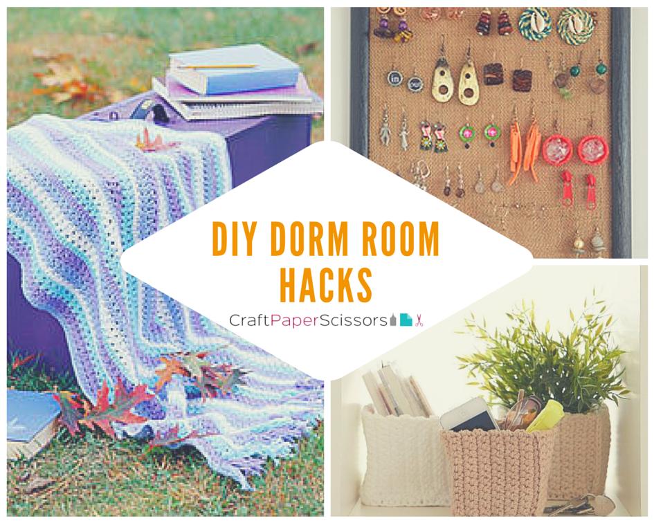 Dorm Room Hacks 14 Diy Dorm Room Ideas Craft Paper Scissors
